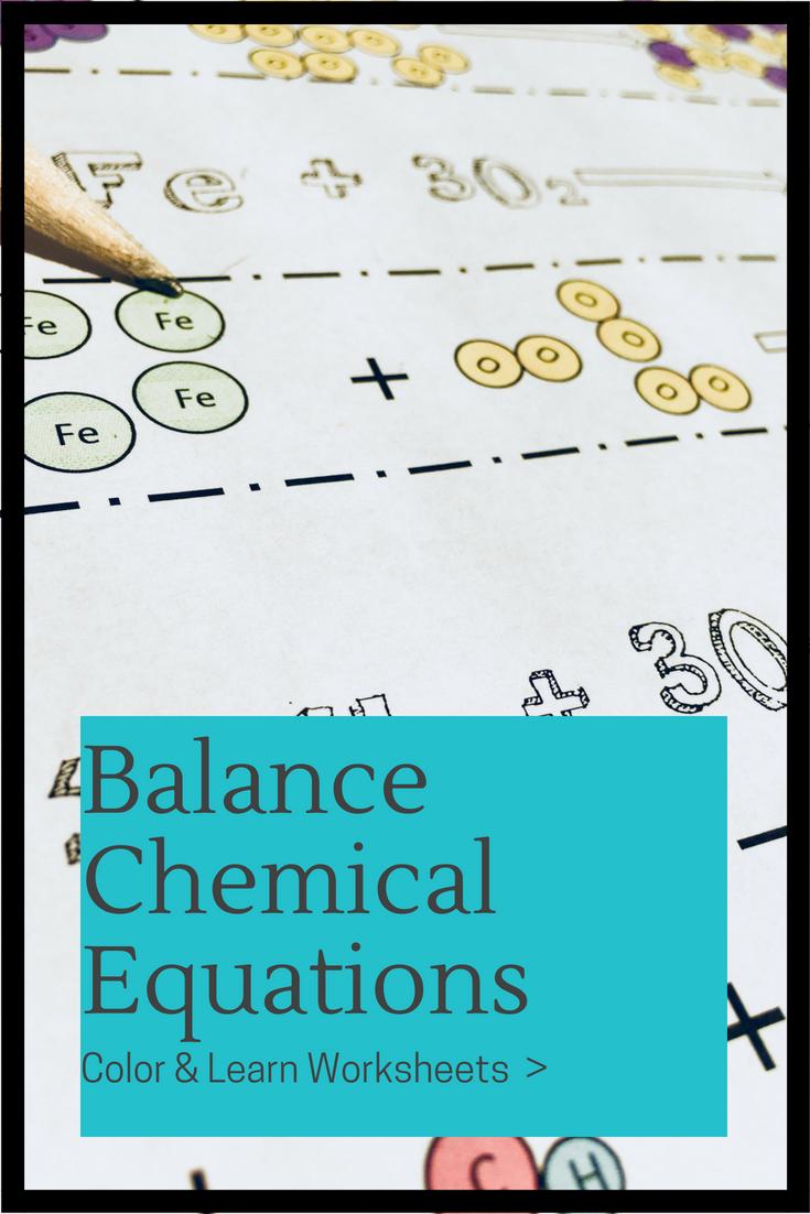 Balancing Chemical Equations Worksheet Chemistry