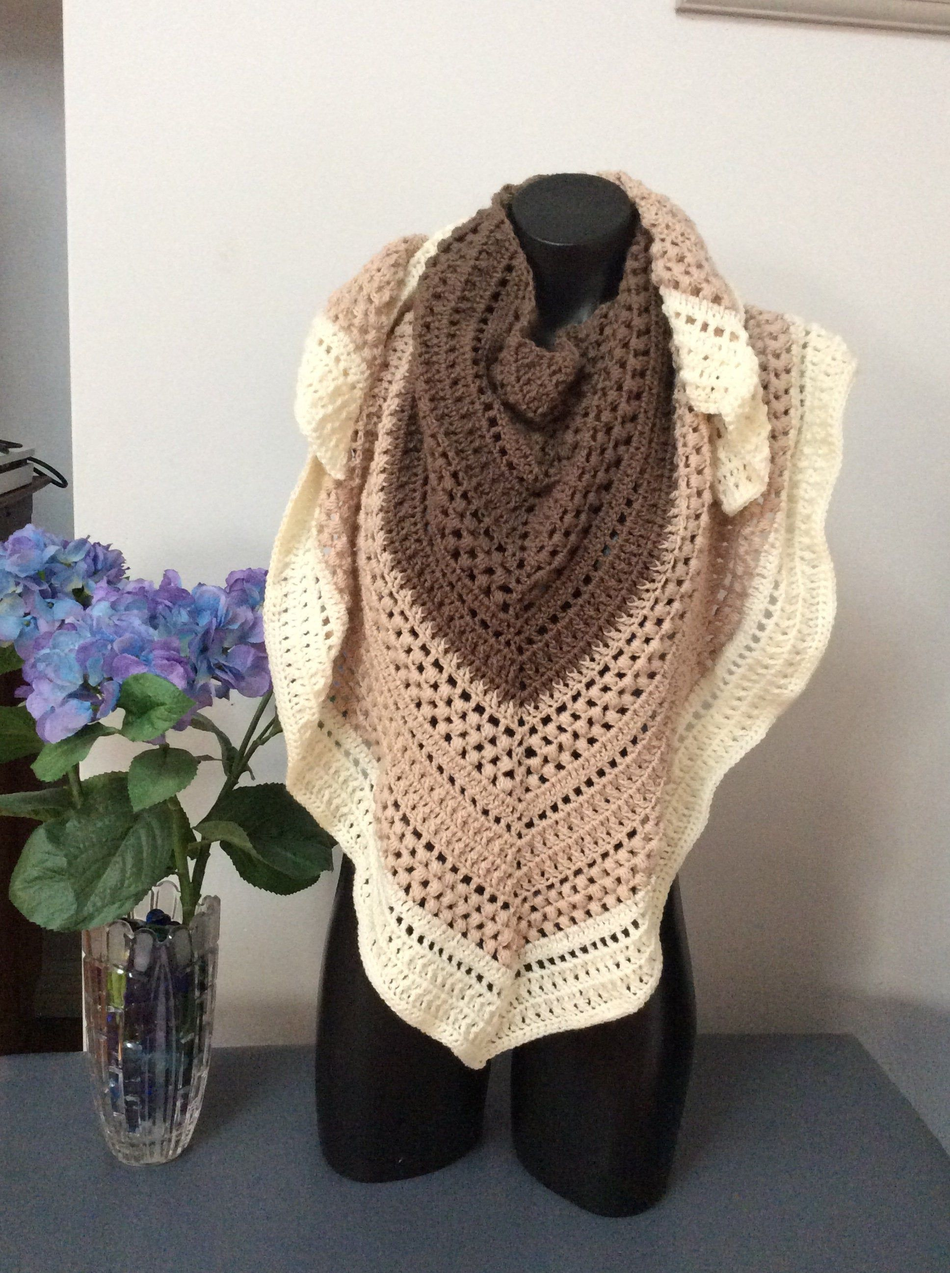 Photo of Gorgeous handmade triangle scarf or shawl | Etsy