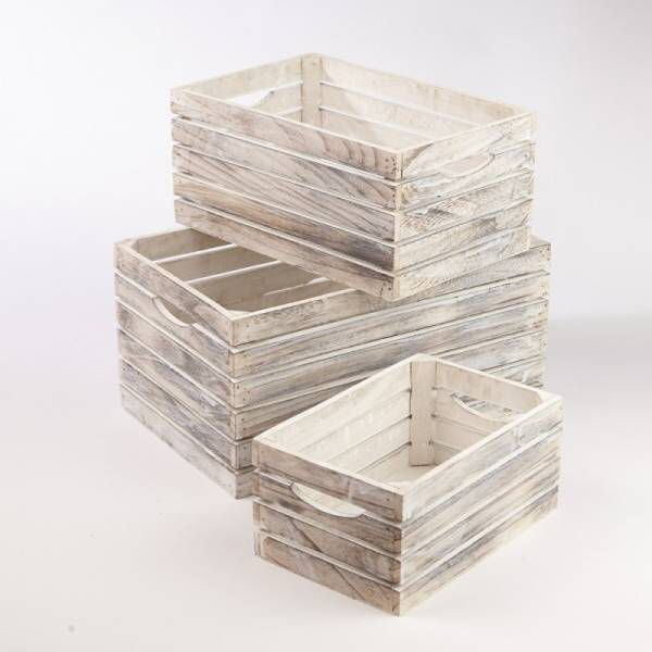 White Washed Wooden Crates Crate Decor Wooden Crates Christmas Wooden Crates Rustic