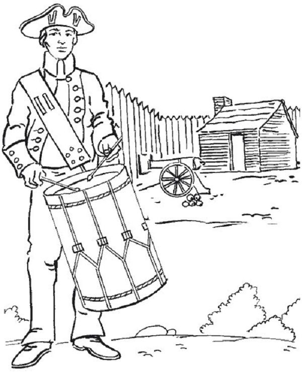 American Revolution Coloring Pages Flag Coloring Pages Coloring