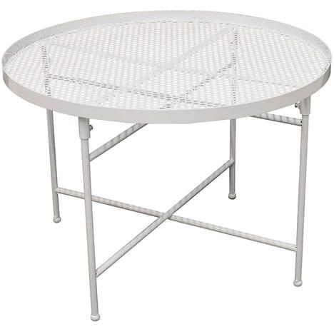 Table basse ajourée en métal Diane Diam. 50 x H. 35 cm
