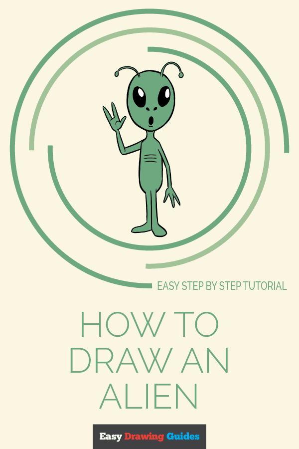 How To Draw An Alien With Images Alien Drawings Easy Drawings