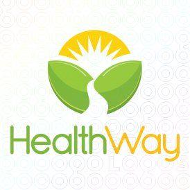 logo para una empresa de productos naturales. Que usa productos que cuidan la salud, por el simbolo del sol que nace, simboliza nuevo comienzo o un cambio positivo