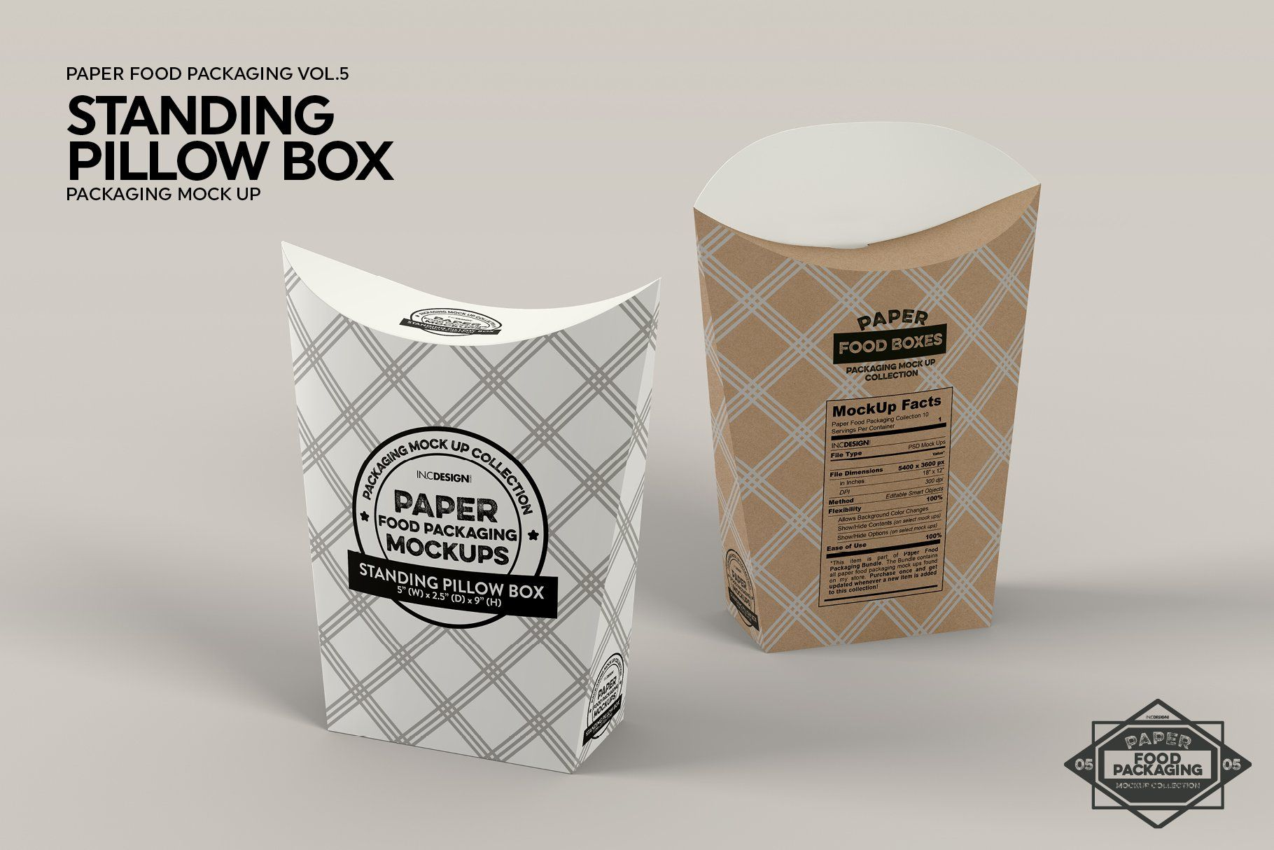 Standing Pillow Box Packaging Mockup Packaging Mockup Free Packaging Mockup Box Packaging
