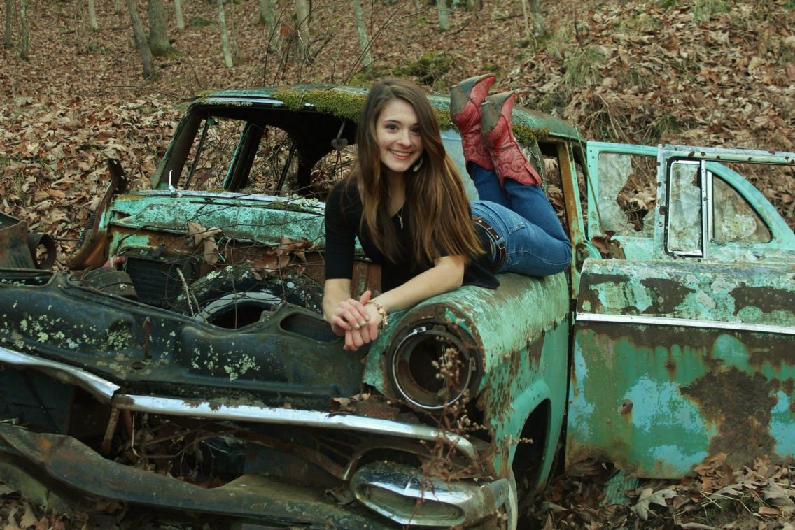 Me on this old car I found in the woods near the farm. Vintage, old ...