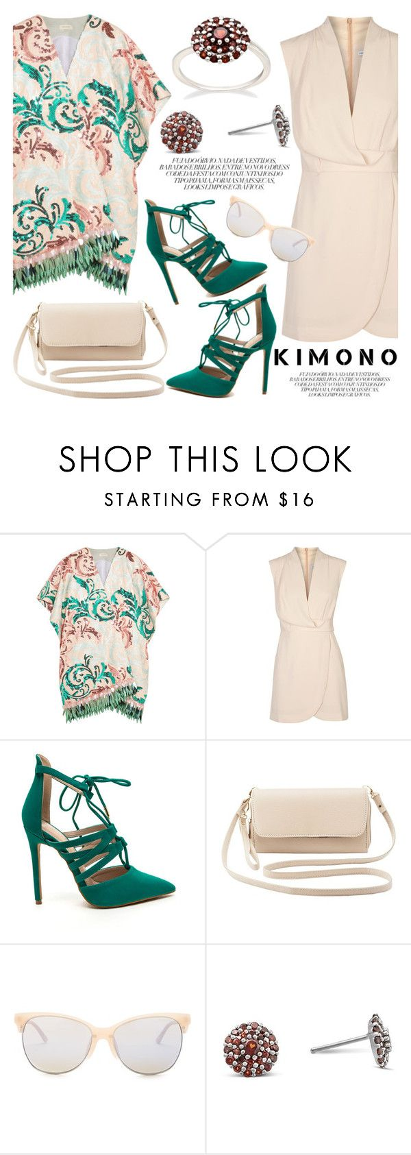 """""""Kimono Cool"""" by blossom-jewels ❤ liked on Polyvore featuring Delpozo, Finders Keepers, Charlotte Russe, Smith Optics, contestentry, kimonos and Blossomjewels"""