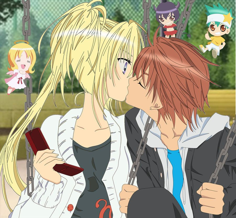 Shugo Chara Amu And Ikuto Kiss Scene