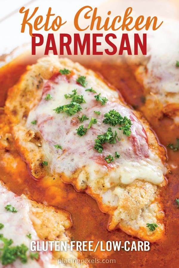 Keto Baked Chicken Parmesan #chickenparmesan