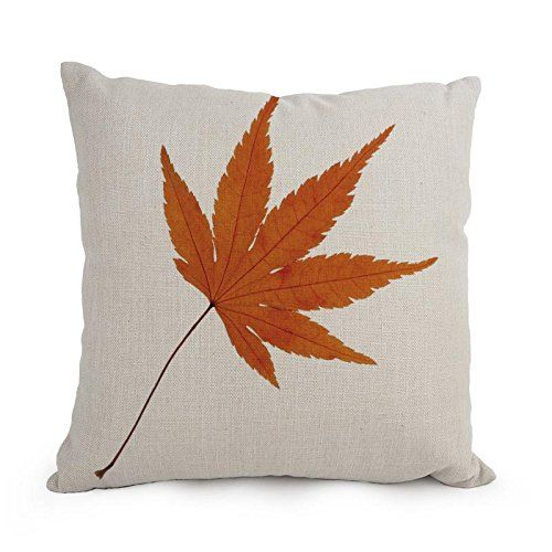 Elegancebeauty Leaf Throw Pillow Case 18 X 18 Inches  45 By 45 Cm Gift Or Decor For Bedroomplay Roomkids Roomfestivalbarseat  2 Sides *** You can find out more details at the link of the image.