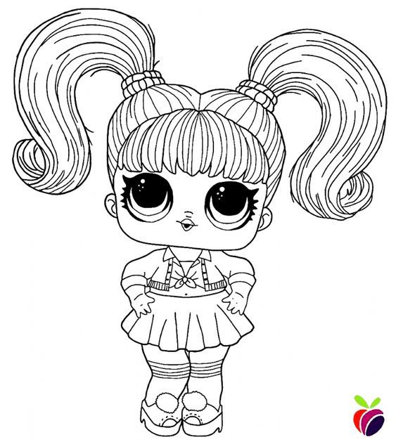 lol surprise hairgoals series coloring page  oops baby