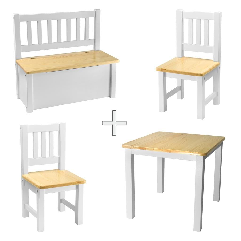 Kindersitzgruppe aus Buchennholz 4 teilig Sie sehen hier