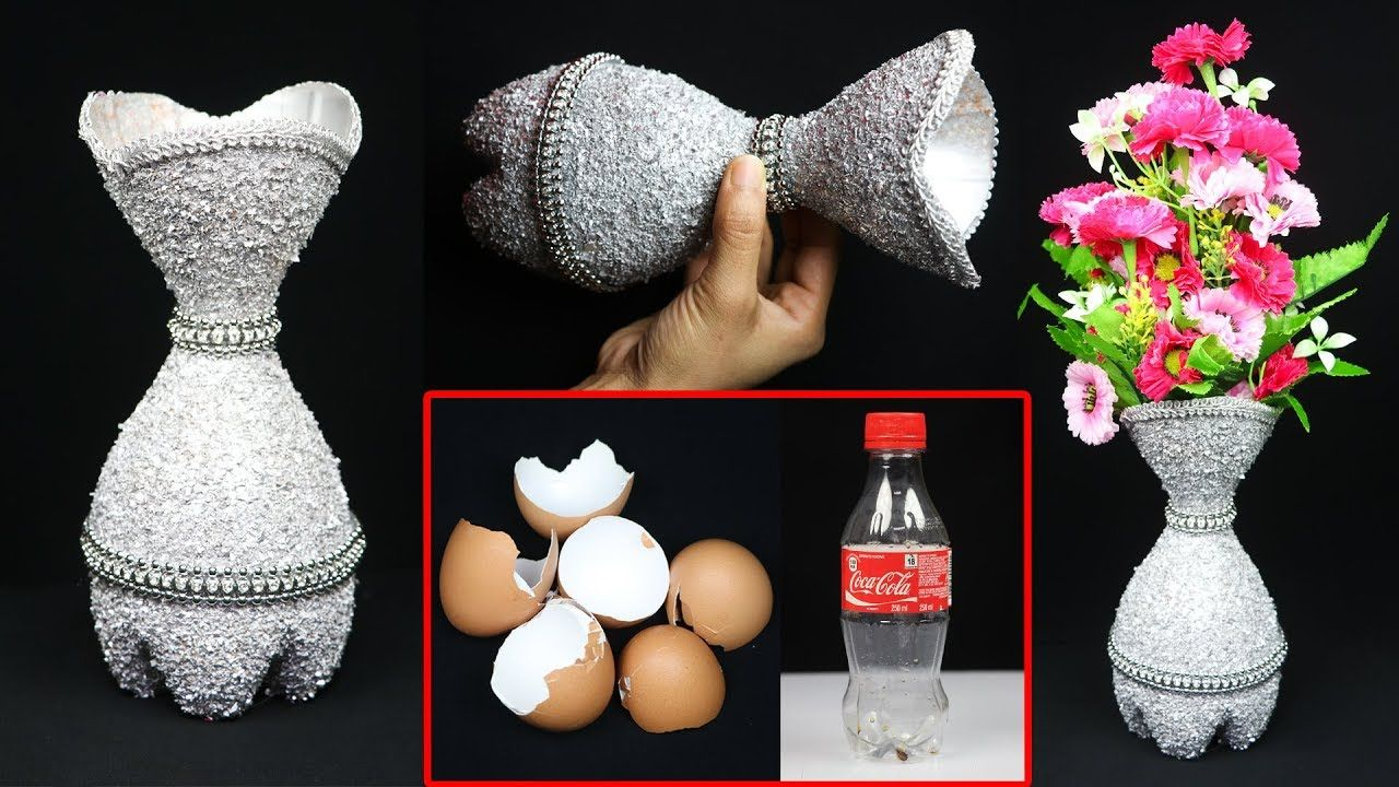 DIY Best out of plastic bottle craft  Plastic Bottle Flower Vase