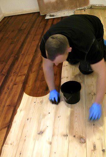Professional wood floor staining skills for the floor sanding DIY ...
