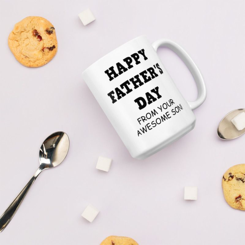 Happy Fathers Day gift from son, gifts for him, fathers day grandpa gift, ceramic coffee mug #grandpagifts