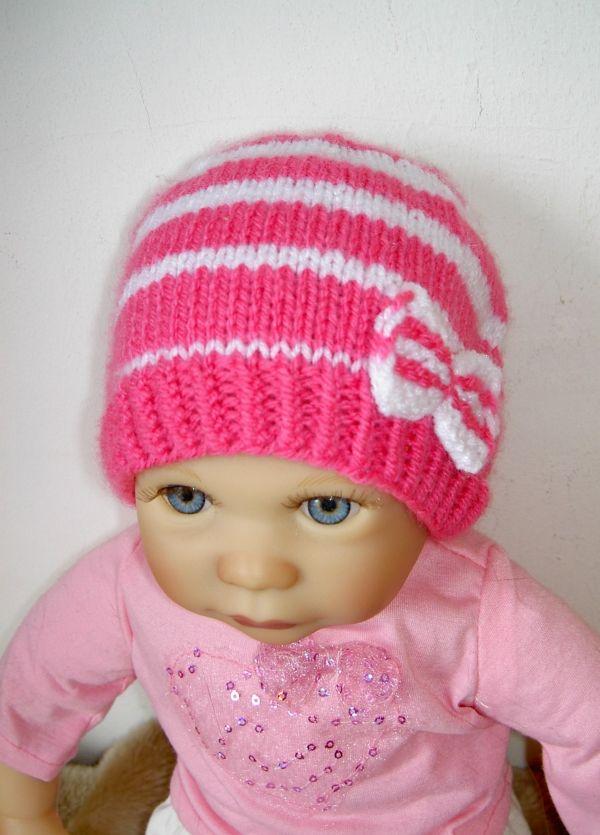 Strickanleitung Baby-Mütze 1 - 4 Monate | DIY | Pinterest ...