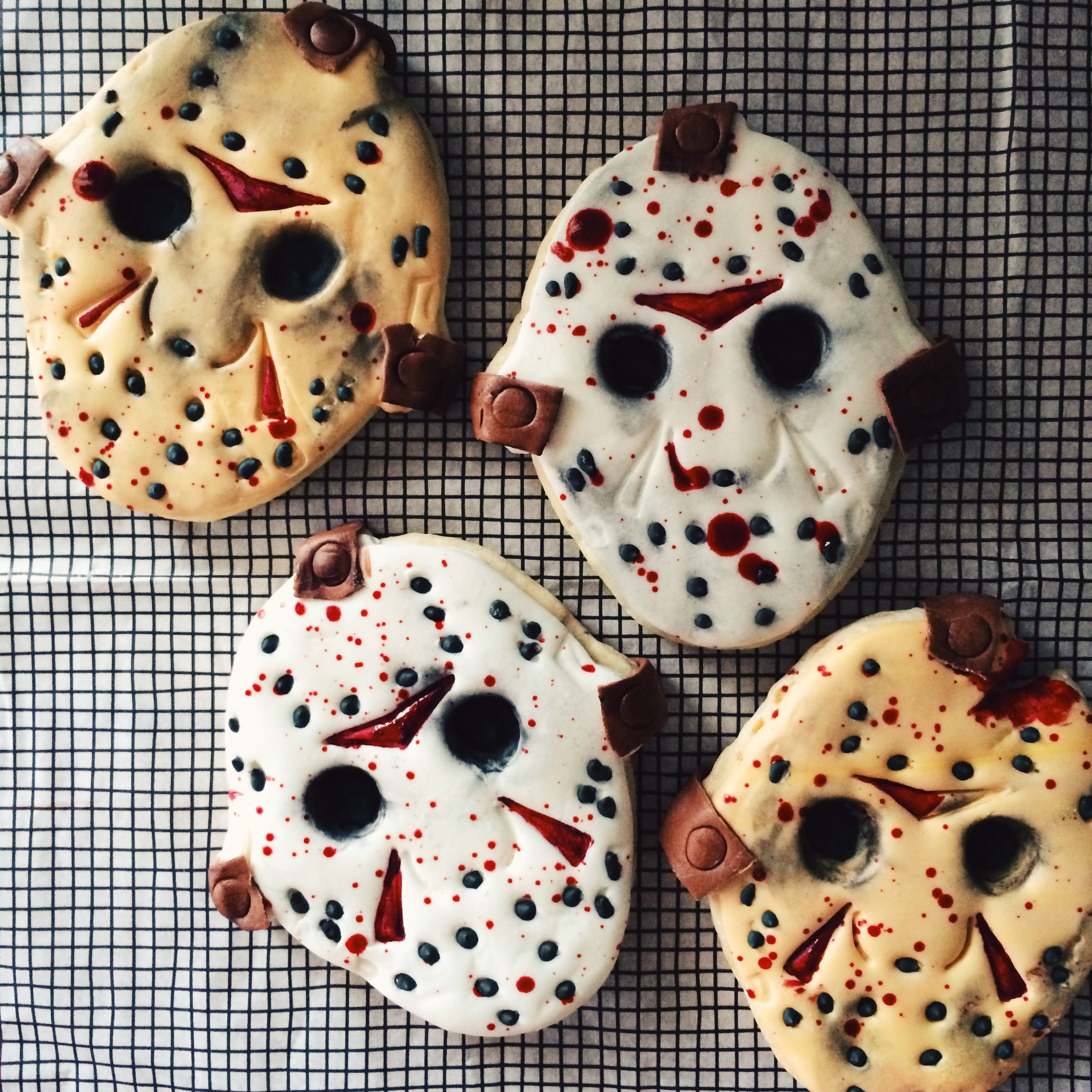 Friday The 13Th Jason Voorhees Mask Sugar Cookied