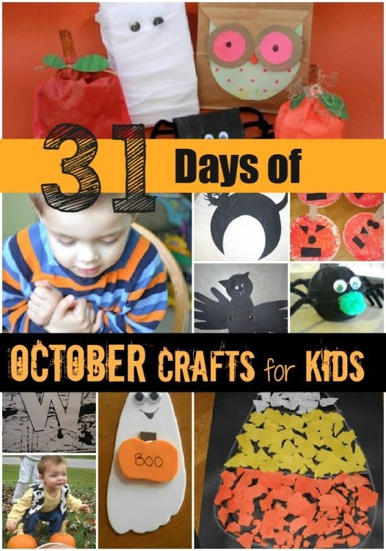 31 Days of Halloween Crafts Halloween Pinterest Craft - how to make halloween decorations for kids