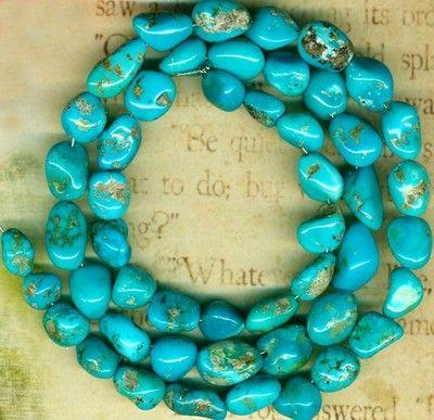 "Castle Dome Turquoise Beads Southwest Arizona USA ""Pinto Valley""Genuine 16"" Strd | eBay"