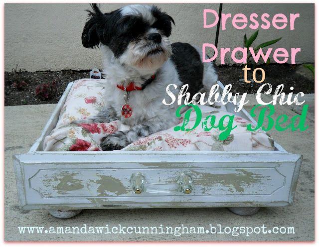 DIY : Dresser Drawer To Shabby Chic Dog Bed @ Jill Zee    Do You