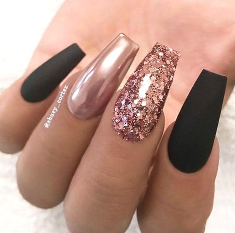 10 Elegant Rose Gold Nail Designs That You Should Try Gold Nail Designs Rose Gold Nails Design Rose Gold Nails