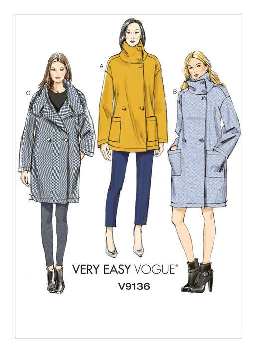 V9136 | Vogue Patterns | sewing patterns | Pinterest