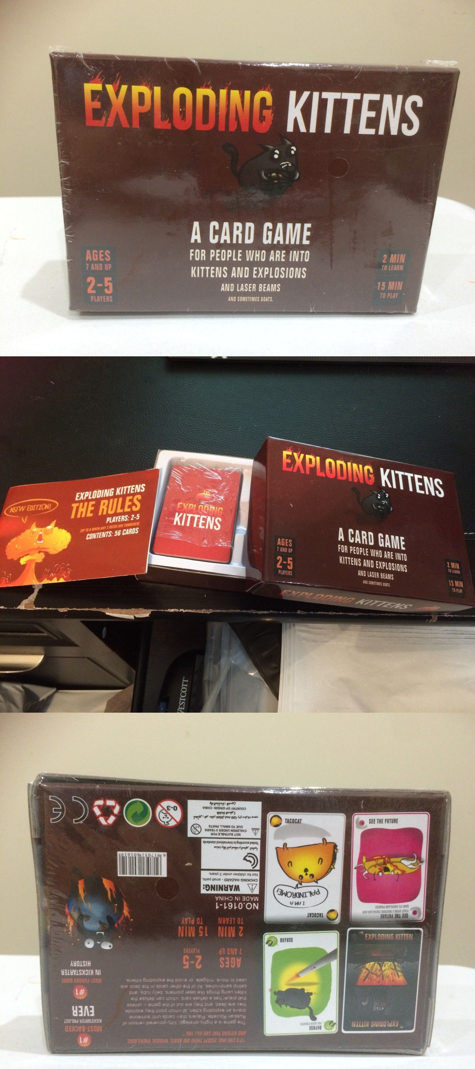 Other Card Games and Poker 2552 Exploding. Kittens. A
