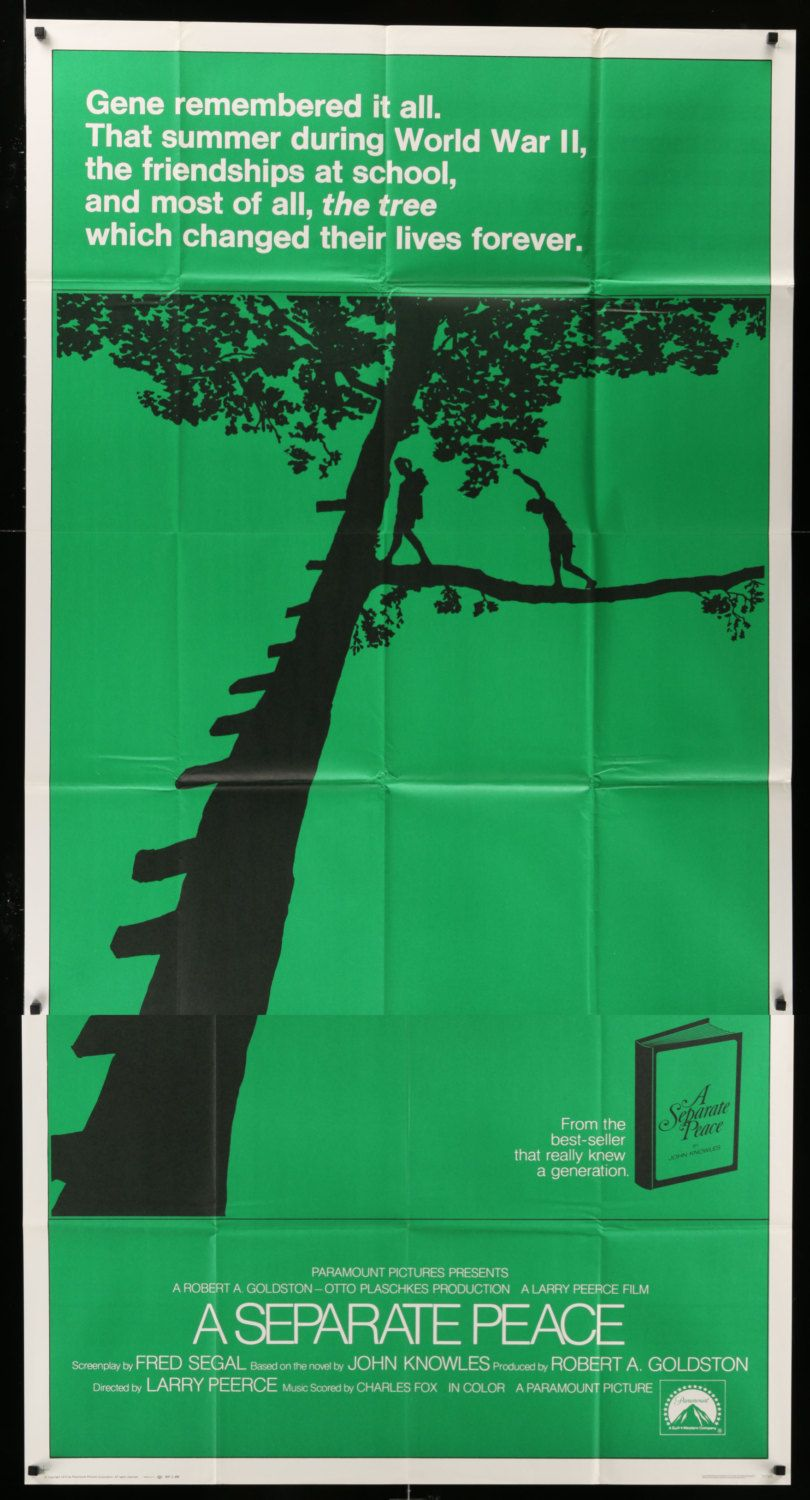 A Separate Peace 1972 Vintage Three Sheet Movie Poster