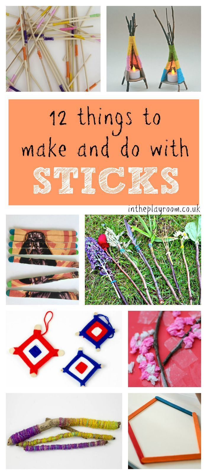 12 Fun Things To Make And Do With Sticks Nature Art Craft And