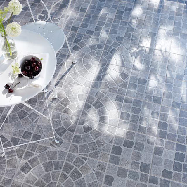 Carrelage extérieur Riga gris 30 x 30 cm - CASTORAMA Jardin - pave pour terrasse exterieur