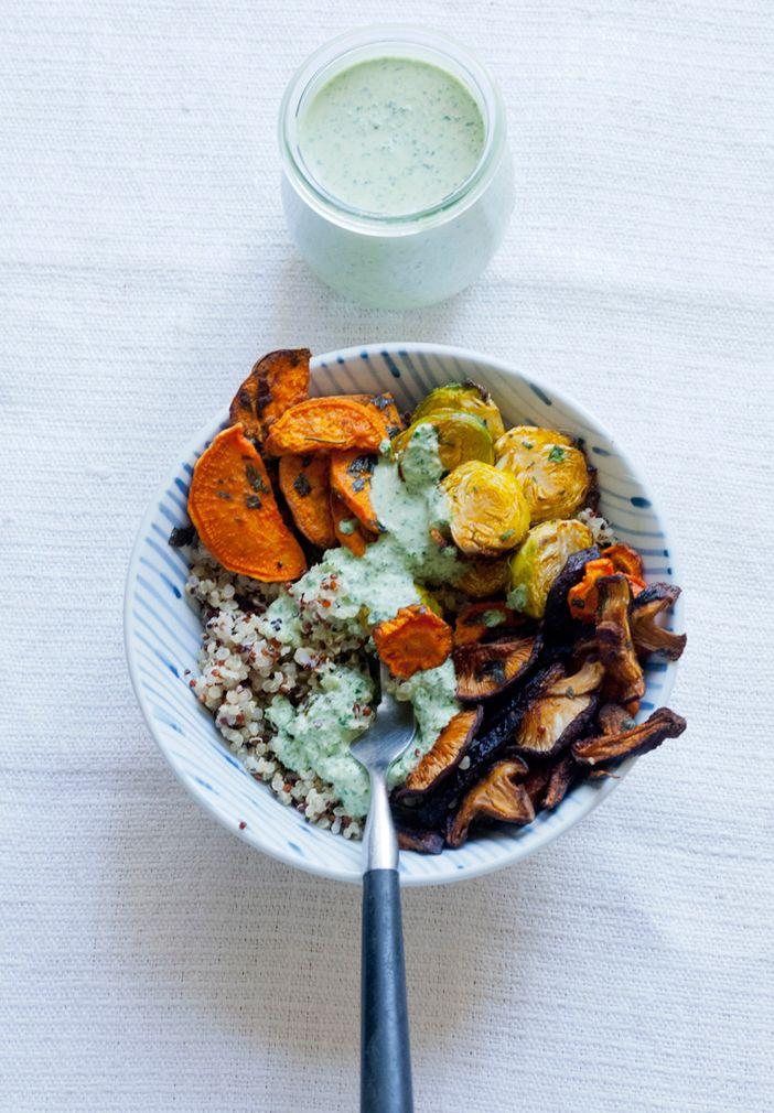 » ofengemüse, quinoa & tahini