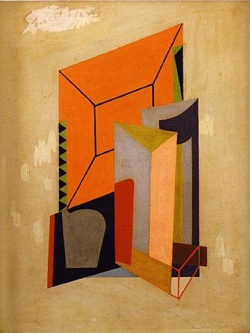 artnet Galleries: Matches No. 2 (#1114) by Stuart Davis from Alexandre Gallery