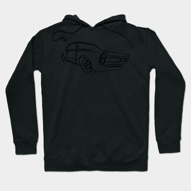 Old School Retro Classic Car Side Muscle Car Gifts For Car Lovers Hoodie