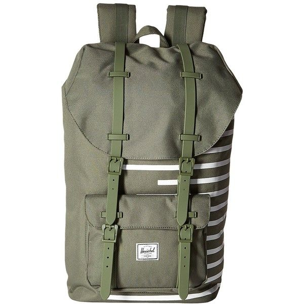 0edf77819a7 Herschel Supply Co. Little America (Deep Lichen Green Blanc de Blanc...  ( 110) ❤ liked on Polyvore featuring bags