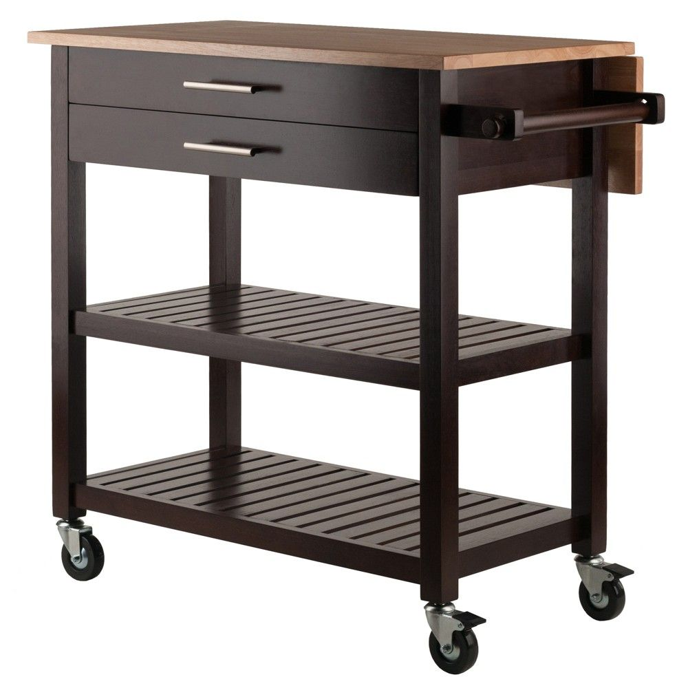 Langdon Kitchen Cart Cappuccino Winsome Kitchen Cart Rolling Kitchen Cart Solid Wood Kitchens