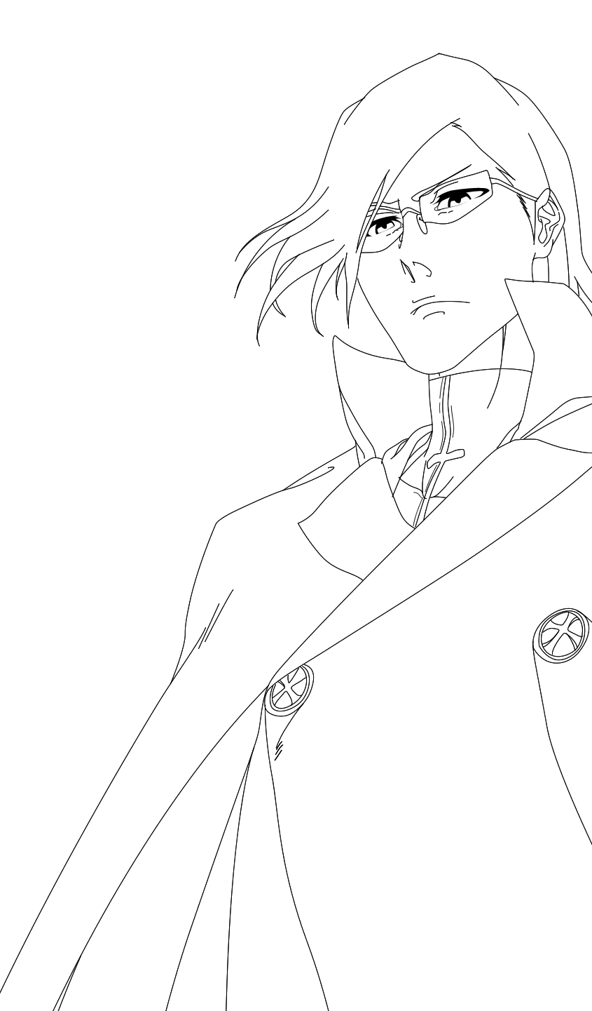 Ishida Bleach 586 Lineart By Ironizer On Deviantart Anime Lineart Superhero Art Drawings [ 1441 x 845 Pixel ]