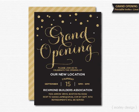grand opening invitation corporate