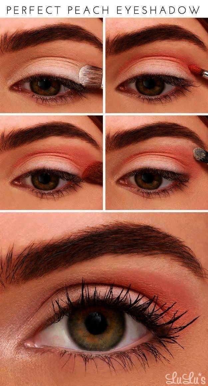 de maquillaje de durazno para crear con tus paletas de durazno -Bonitos tutoriales de maquillaje de