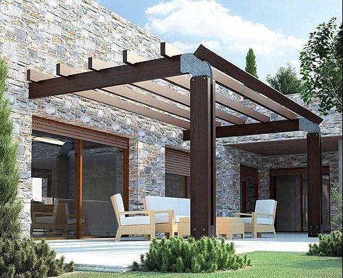 Pergolas de madera fotos buscar con google garden - Pergolas para terraza ...