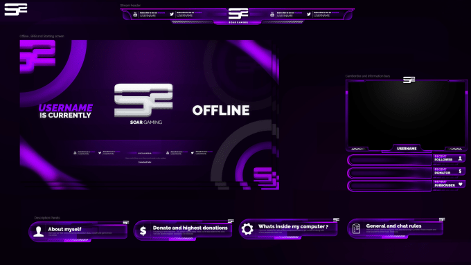 Design Twitch Overlays Panels And Screens Graphic Design Services Design Freelance Graphic Design