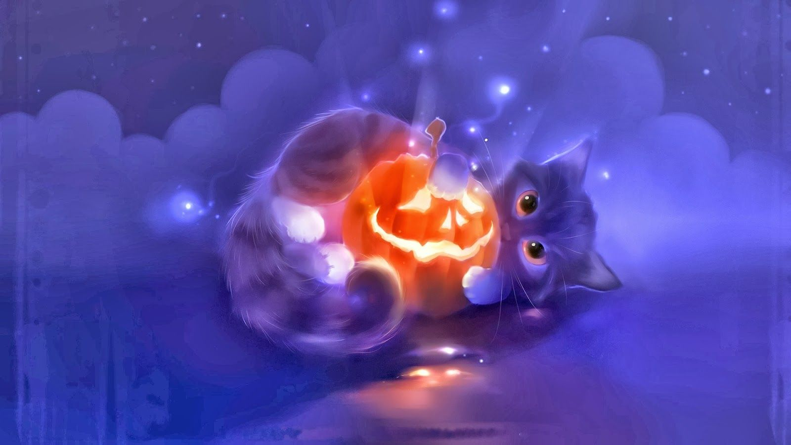 Halloween Cats And Kittens Halloween Cute Cat Animal Pumpkin Lantern Widescreen Hd Wallpaper X5 Halloween Wallpaper Cute Cat Illustration Cute Wallpapers