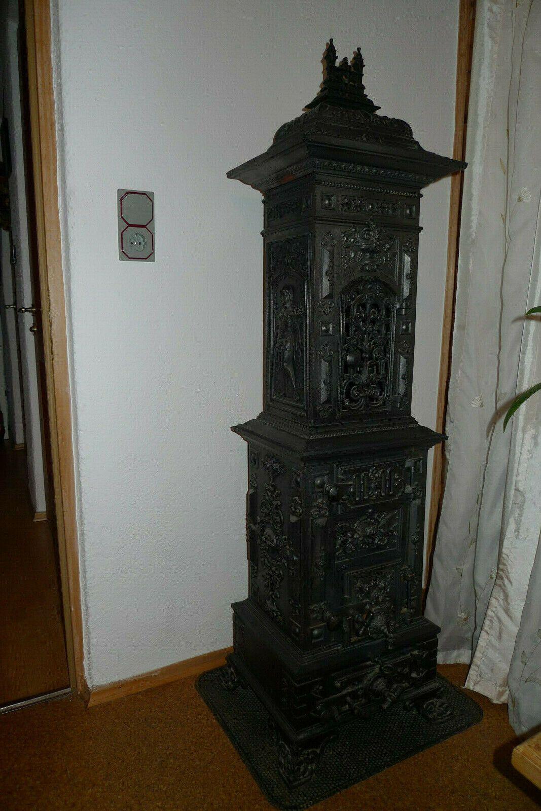 Details Zu Antiker Gusseisen Ofen Mit Bildern Gusseisen Antik
