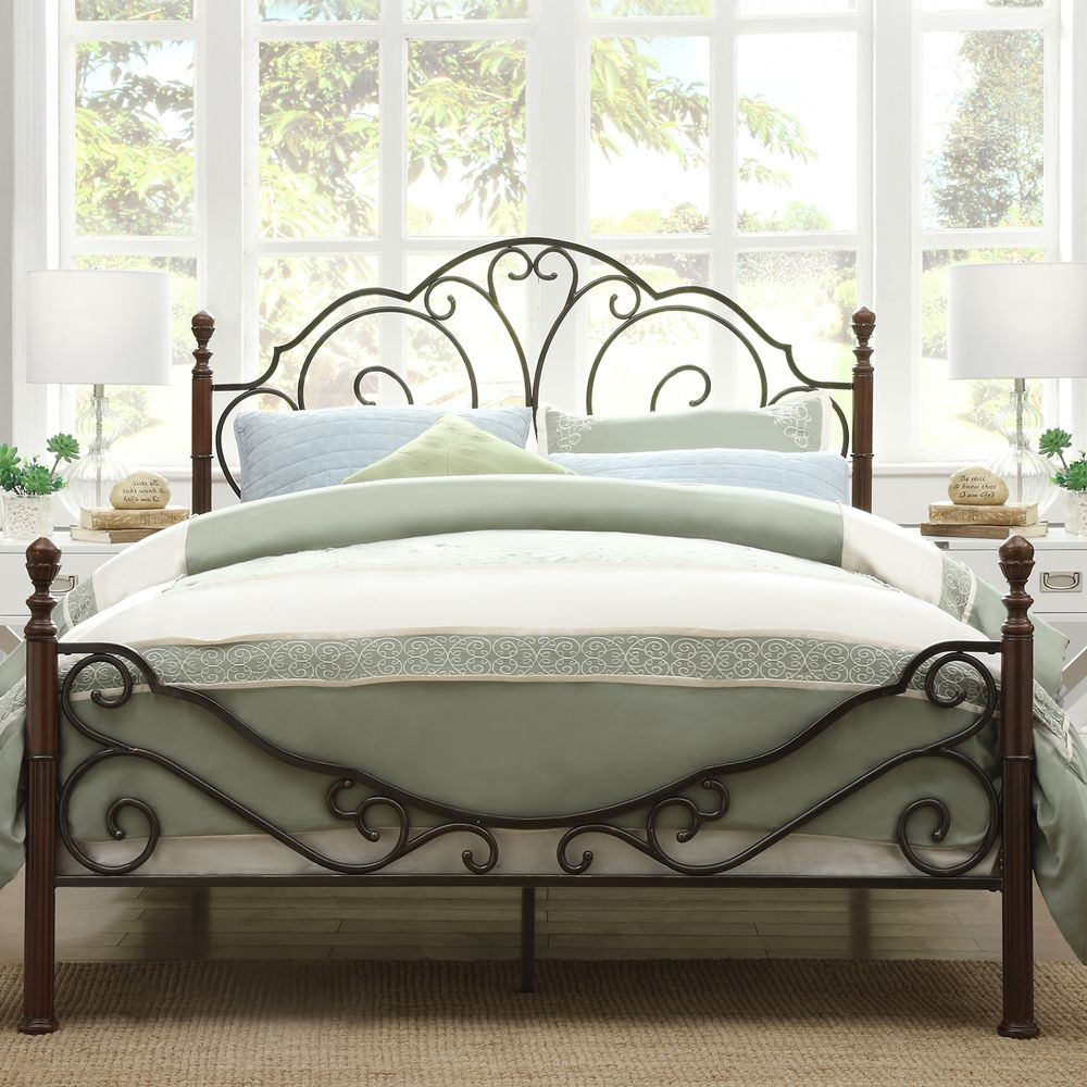 Magnussen Home Shady Grove Metal Bed 690 With Images Iron Bed