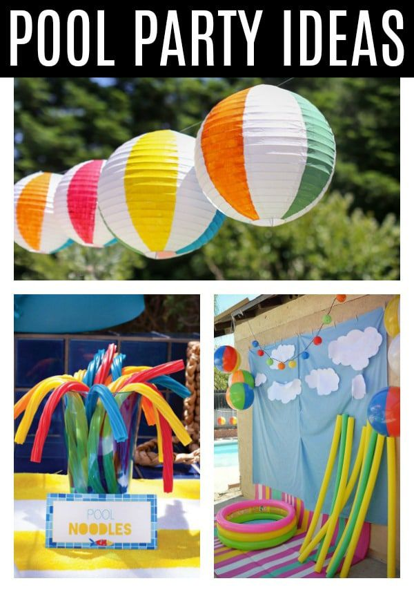 Pool Party Ideas Pretty My Party Poolpartyideas Kidspoolparty Poolparty Pool Party Kids Pool Party Themes Pool Birthday
