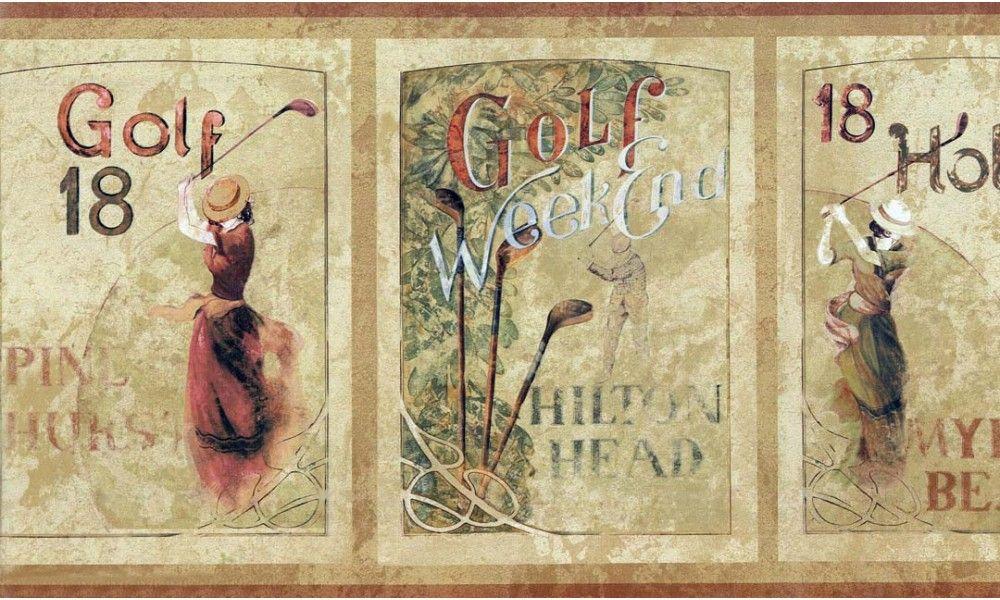 Golf Borders Golf Wallpaper Border GF7104 Wallpaper