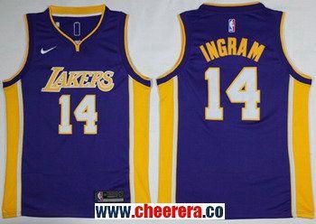 ... mens nike los angeles lakers 14 brandon ingram purple nba swingman  jersey 00007829a
