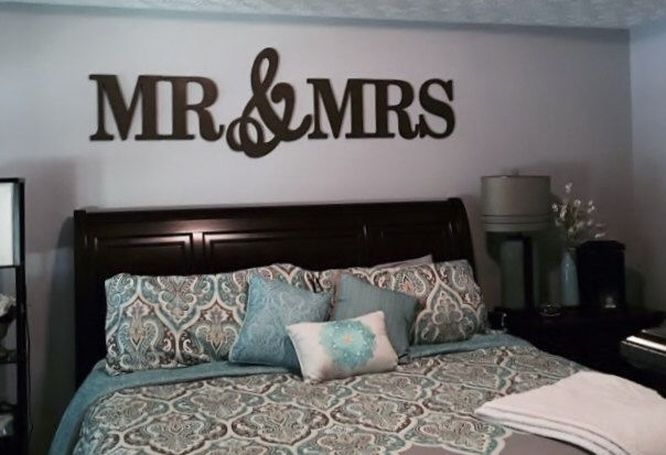 MR & MRS wood Letters,Wall Décor-Painted Wood Letters, Wall ...