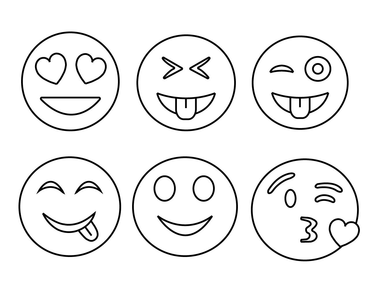 Free Printable Emoji Coloring Pages For Kids Heart And