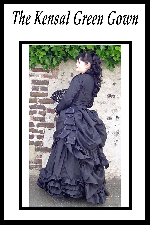 Steampunk wedding dresses  victorian bustle wedding dress gothic wedding dress alternative