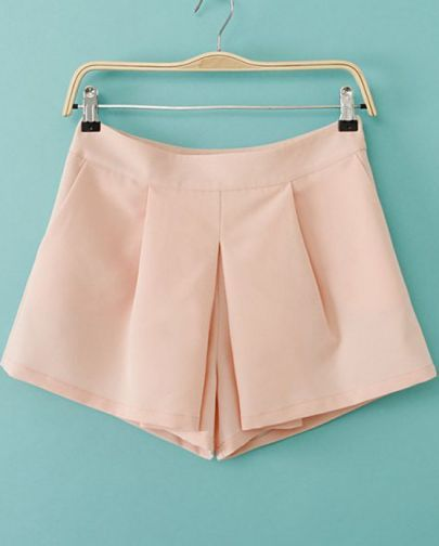 Pink Casual Straight Shorts pictures