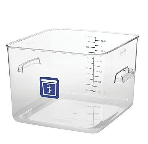Rubbermaid Commercial Products 1980997 Square Plastic Food Storage Container Blue La In 2020 Rubbermaid Commercial Products Food Storage Rubbermaid Storage Containers